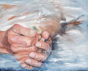 """""""Schleierhaftes 1"""", geschilderd door Karin Kroll, een van de Duitse deelneemsters"""