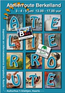 Poster Atelierroute 2017 - 15 x 10